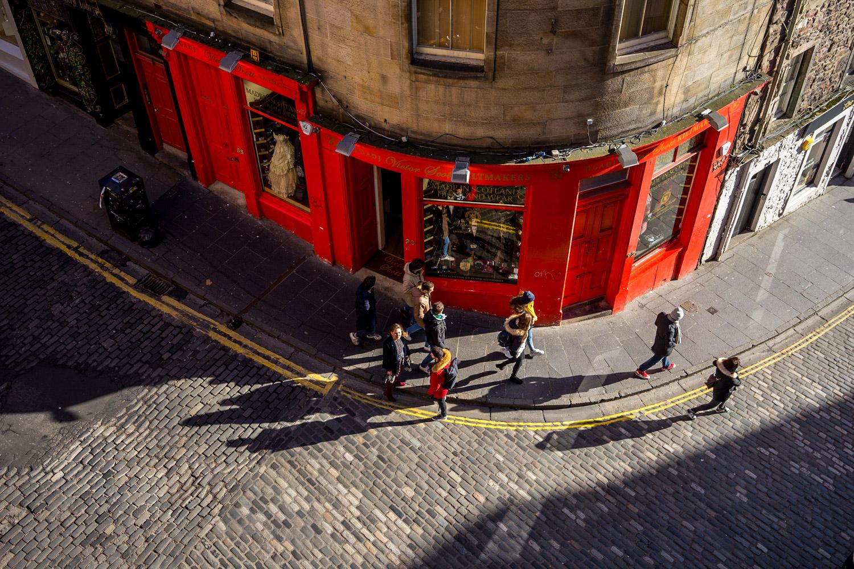 Red shopfront