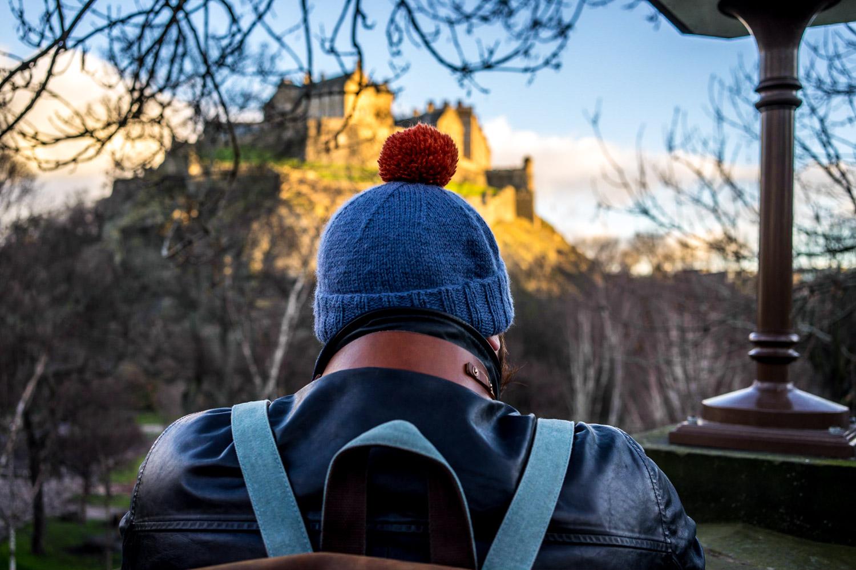 Bobble hat Edinburgh Castle